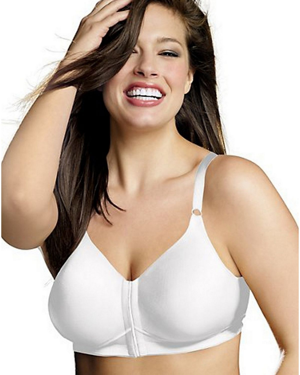 Playtex 4930 Sensationally Sleek Wirefree Bra - White - 40DD 4930