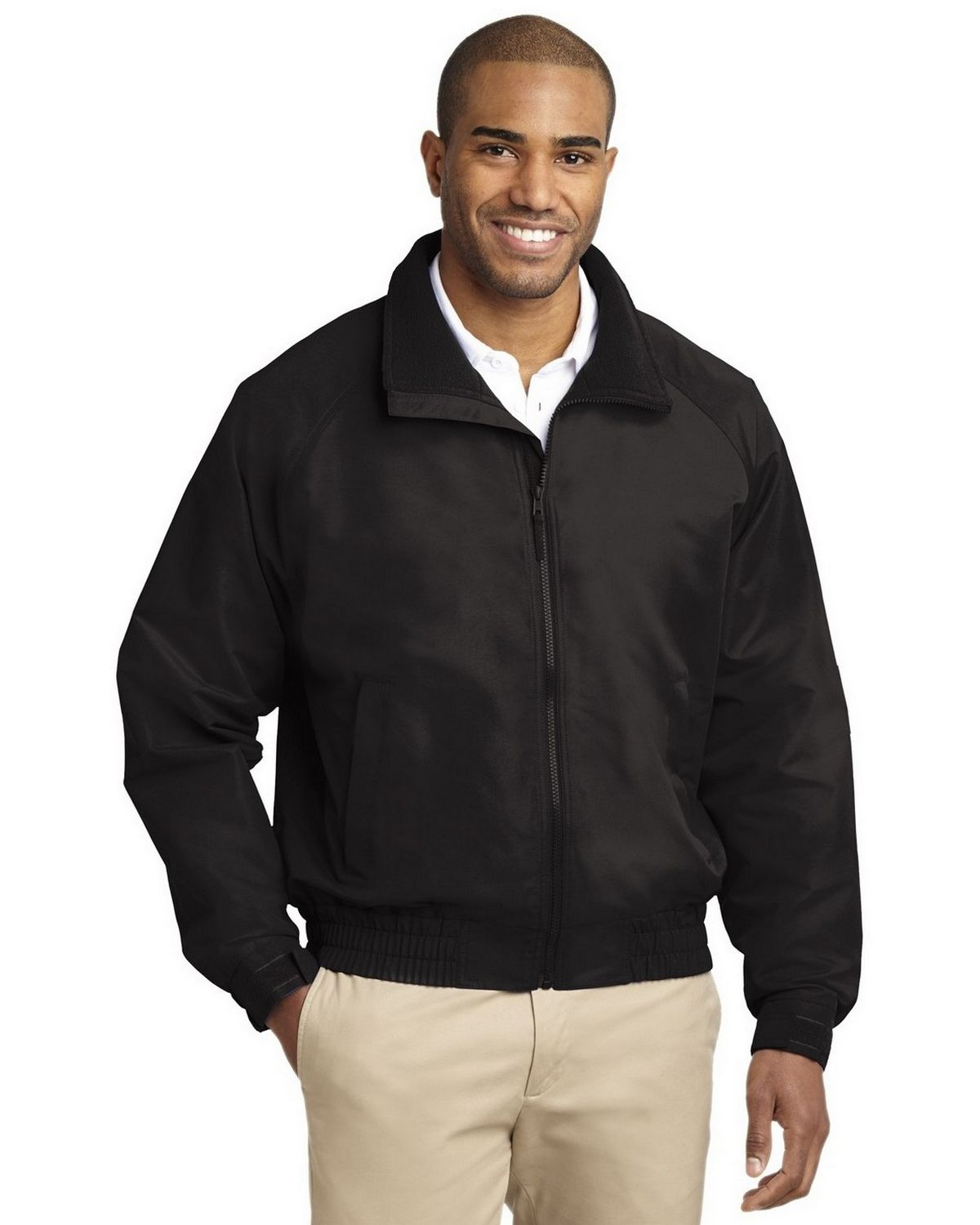 Port Authority J329 Lightweight Charger Jacket - True Black - L J329
