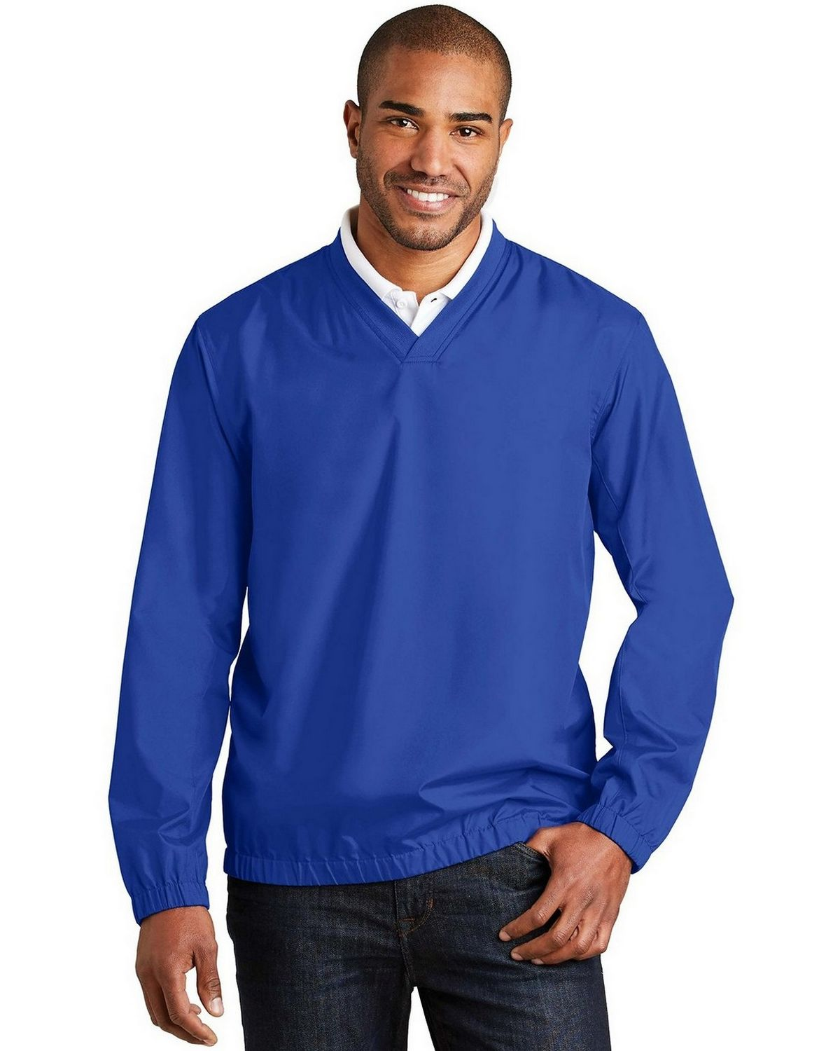 Port Authority J342 Zephyr V-Neck Pullover - True Royal - M J342