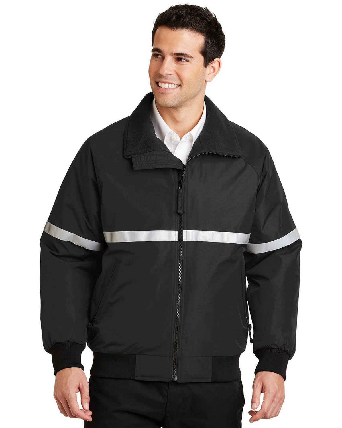 Port Authority J754R Challenger Jacket - True Black/True Black/Reflective - XL J754R