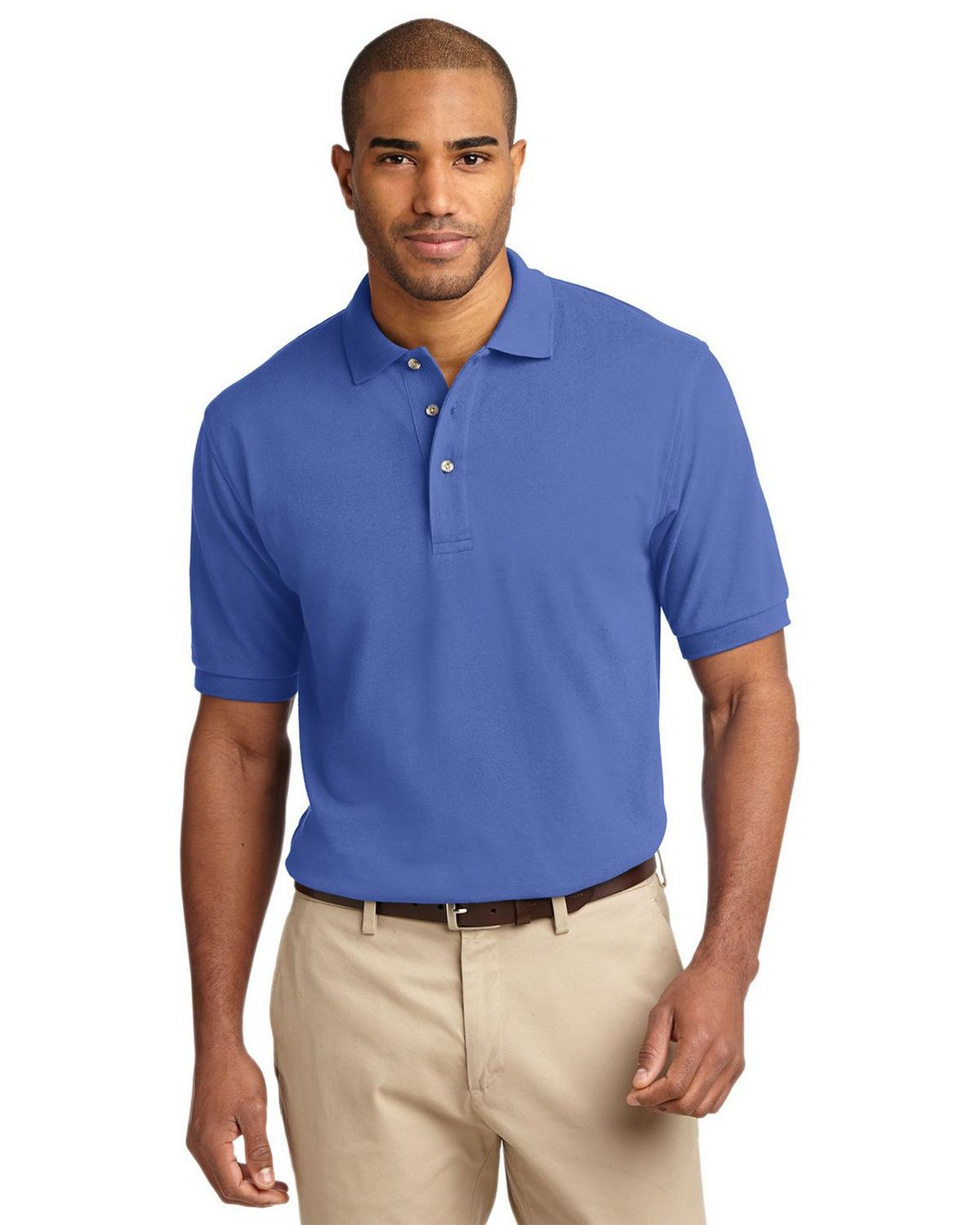 Port Authority K420 Pique Knit Polo - Faded Blue - XS