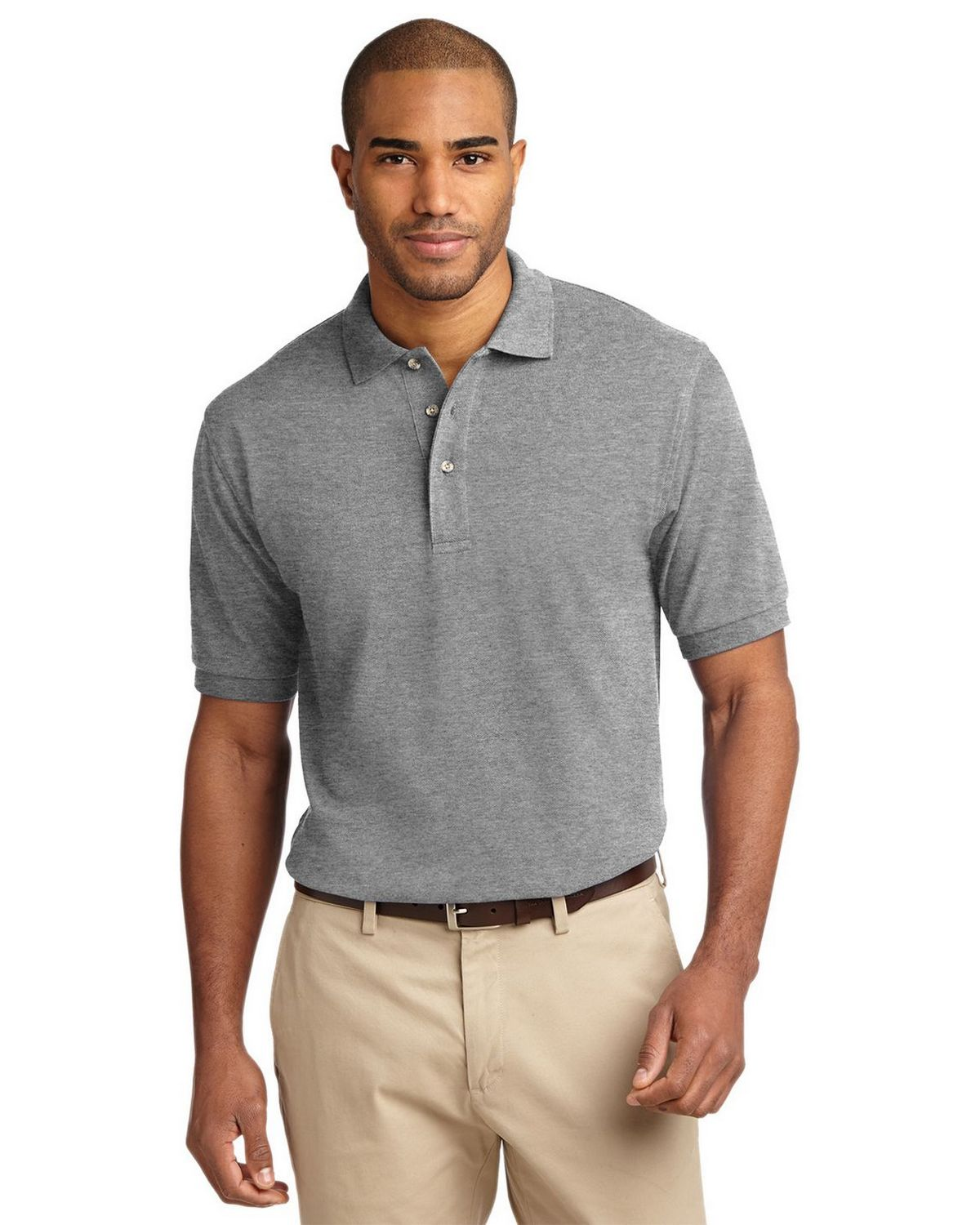 Port Authority K420 Pique Knit Polo - Oxford - XS