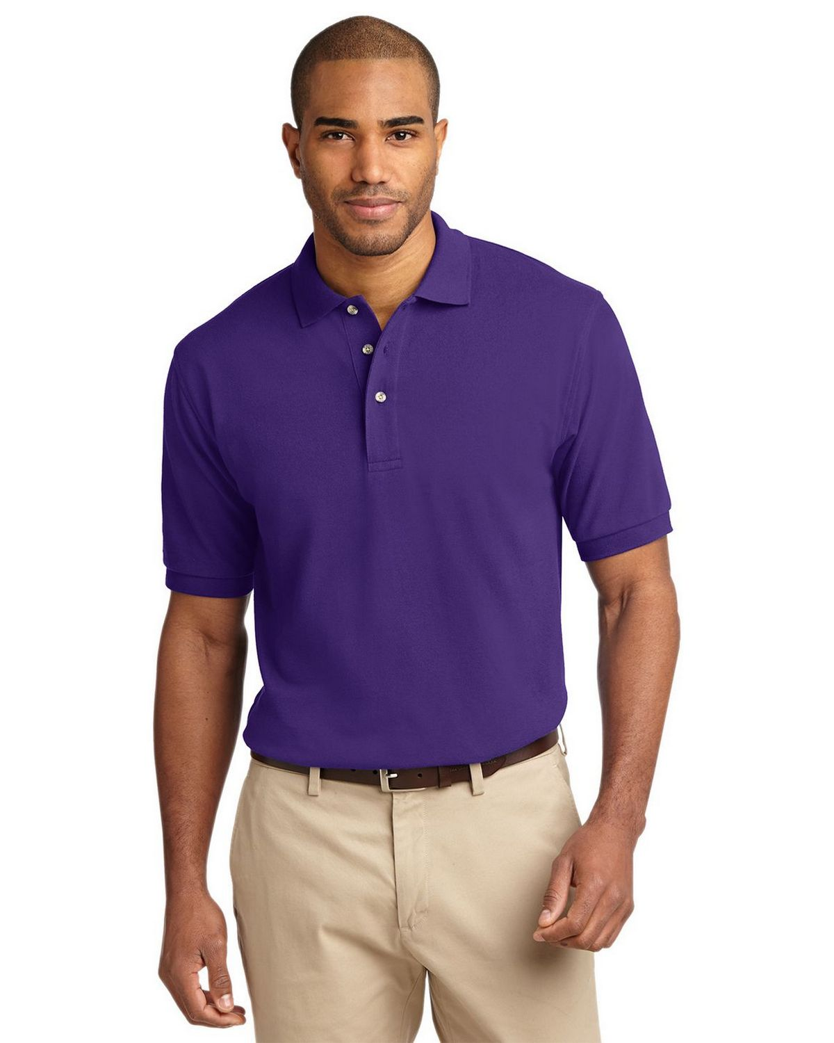 Port Authority K420 Pique Knit Polo - Purple - XS