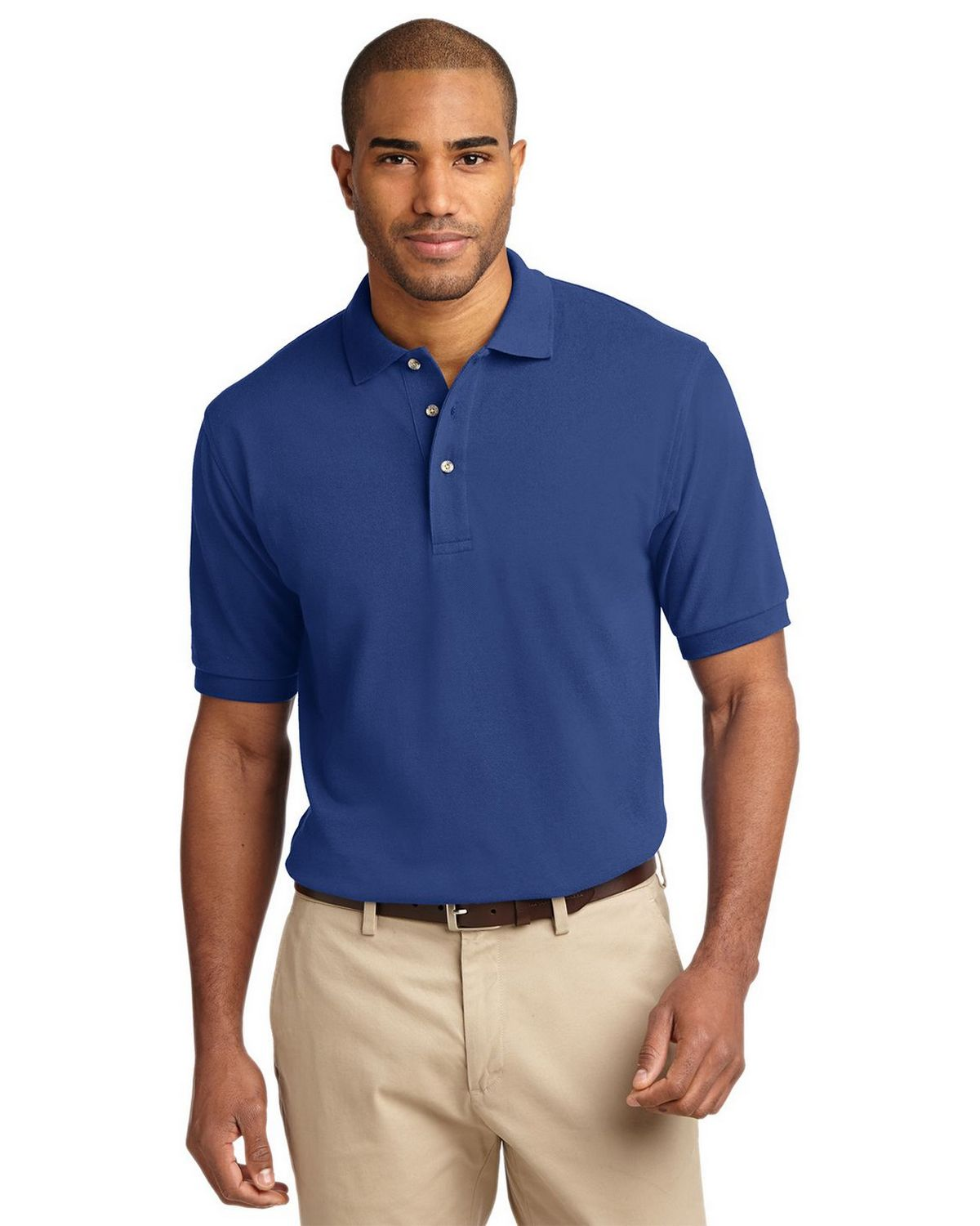 Port Authority K420 Pique Knit Polo - Royal - XS