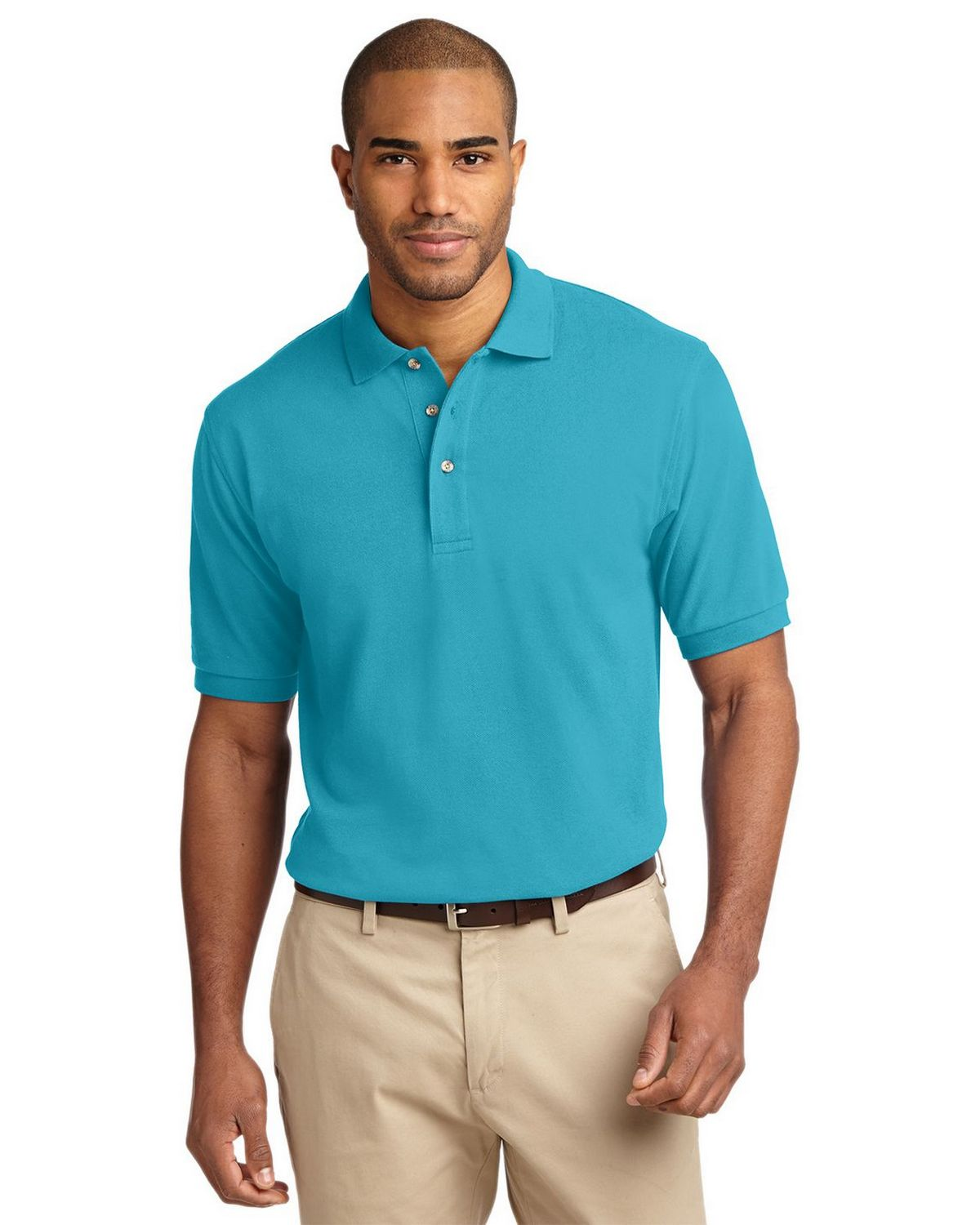 Port Authority K420 Pique Knit Polo - Turquoise - XS