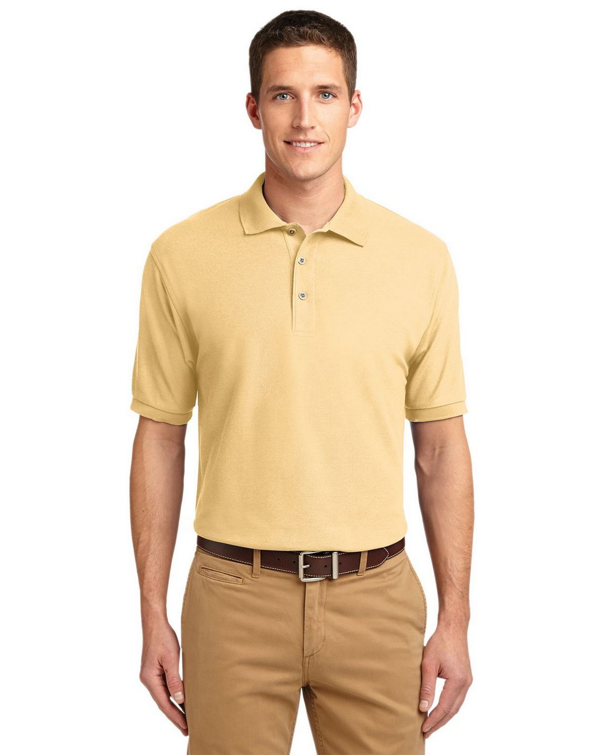Port Authority K500 Men's Silk Touch Polo - Banana - XS #silk