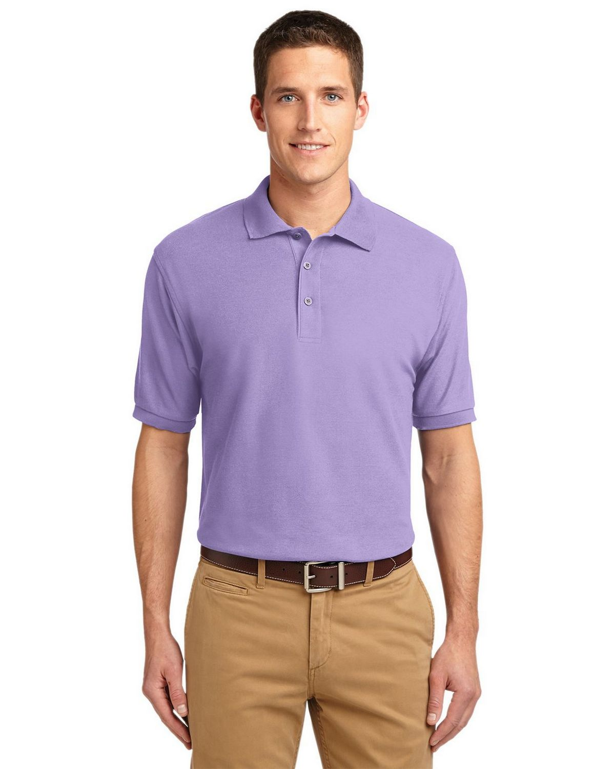 Port Authority K500 Men's Silk Touch Polo - Bright Lavender - XS #silk
