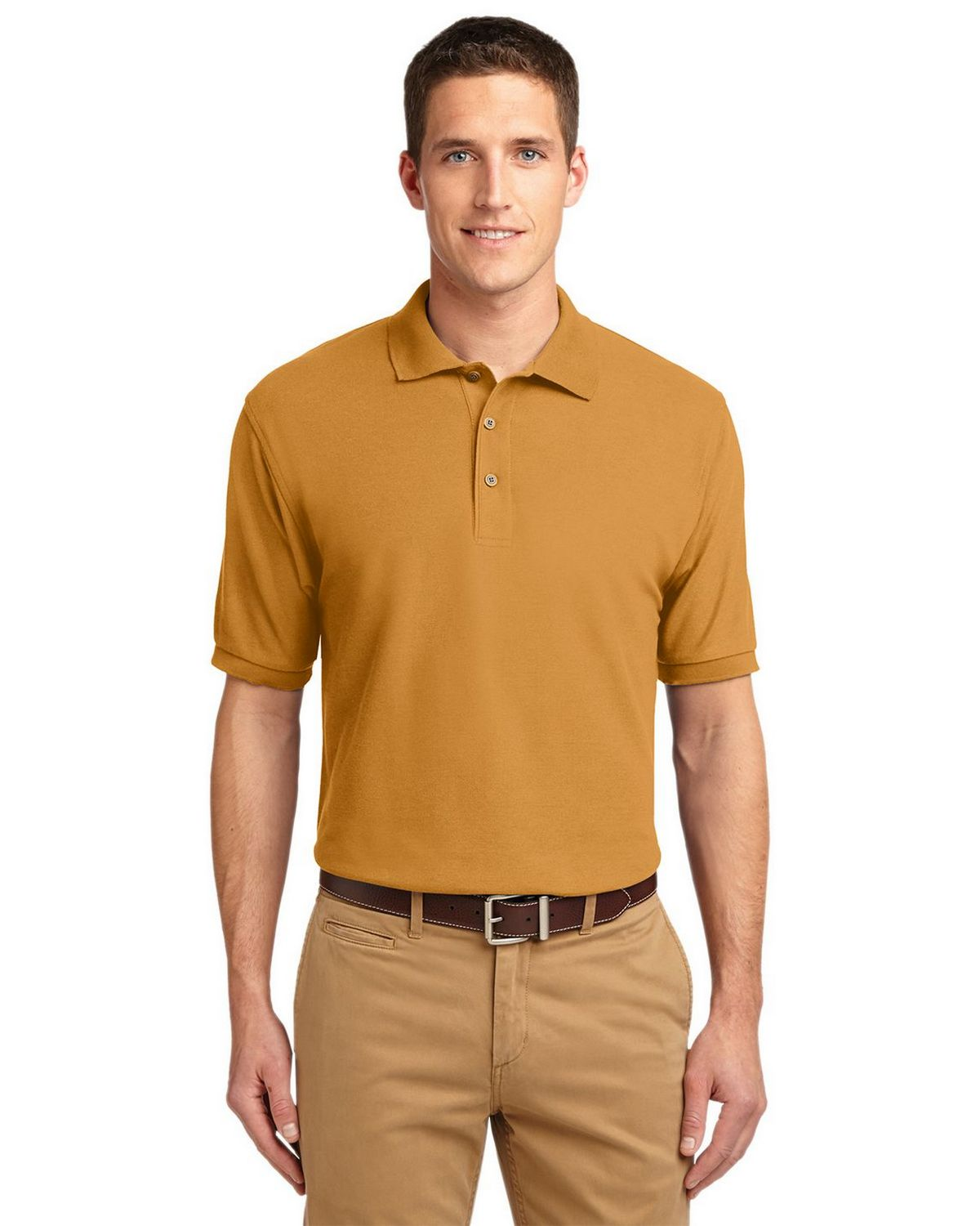 Port Authority K500 Men's Silk Touch Polo - Gold - XS #silk