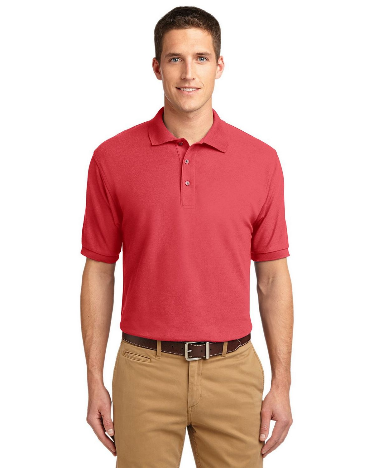 Port Authority K500 Men's Silk Touch Polo - Hibiscus - XS #silk