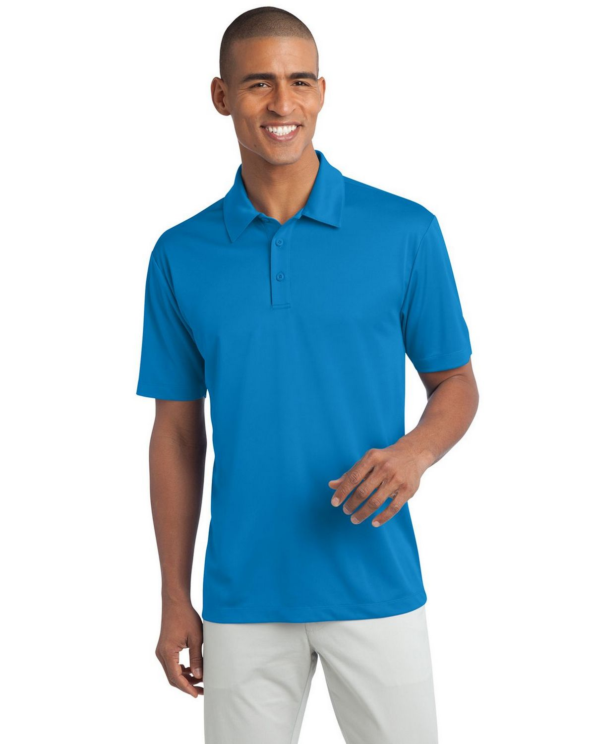 Port Authority K540 Men's Silk Touch Performance Polo - Brilliant Blue - XS #silk
