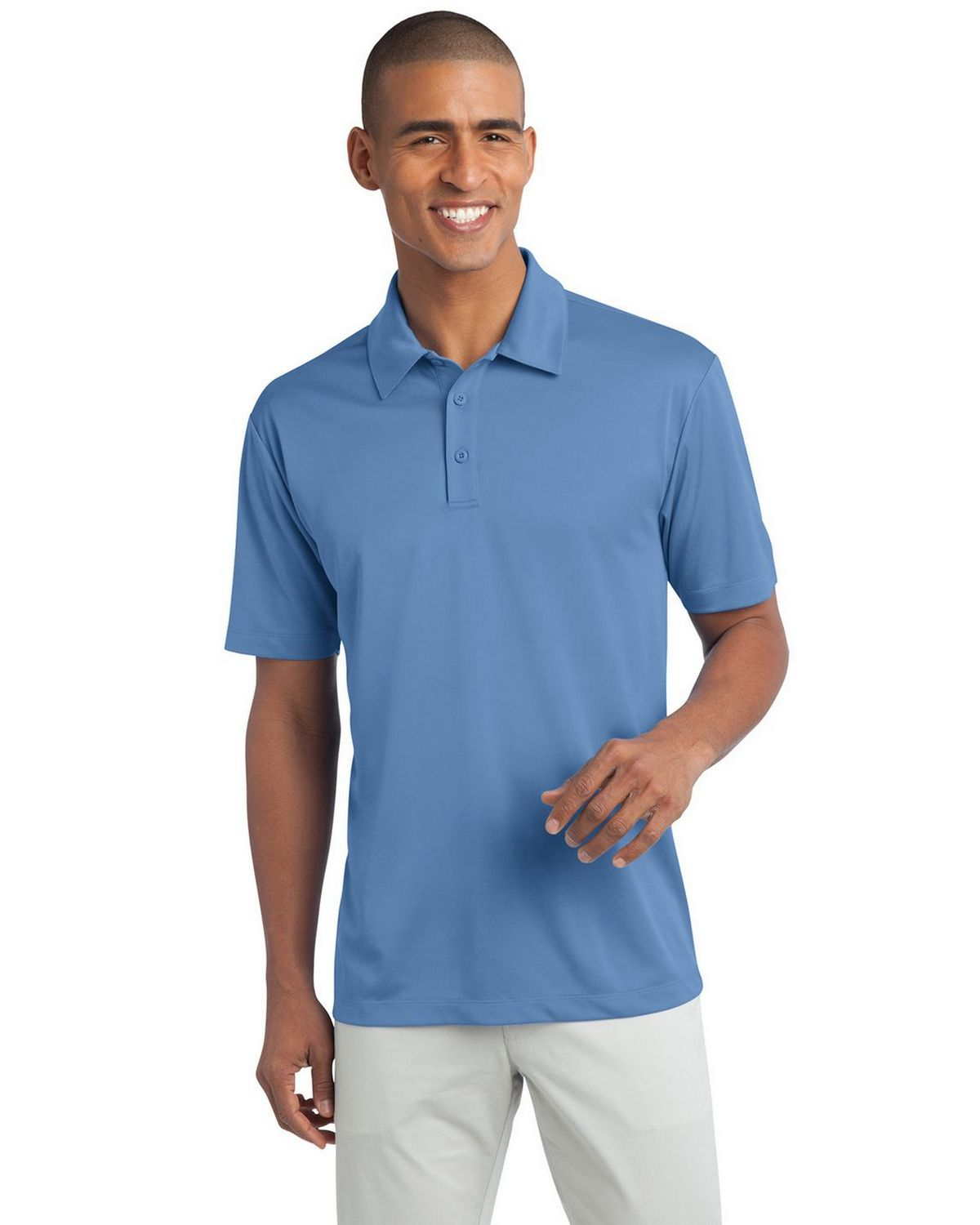Port Authority K540 Men's Silk Touch Performance Polo - Carolina Blue - XS #silk