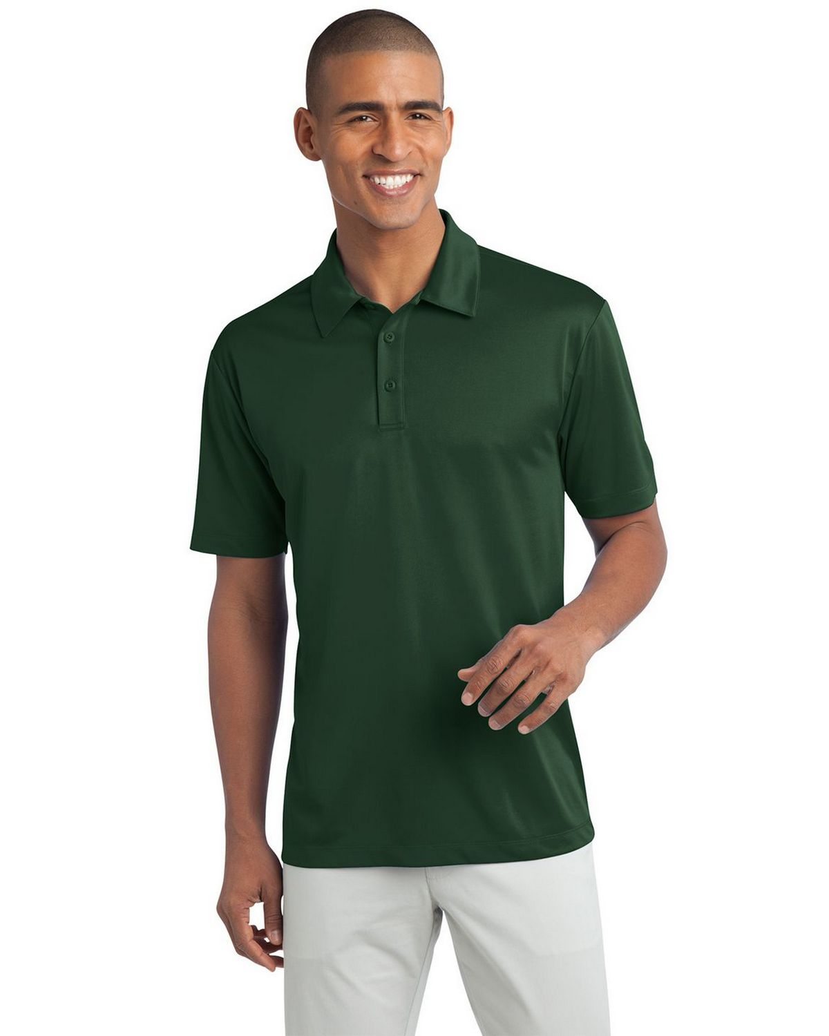 Port Authority K540 Men's Silk Touch Performance Polo - Dark Green - XS #silk