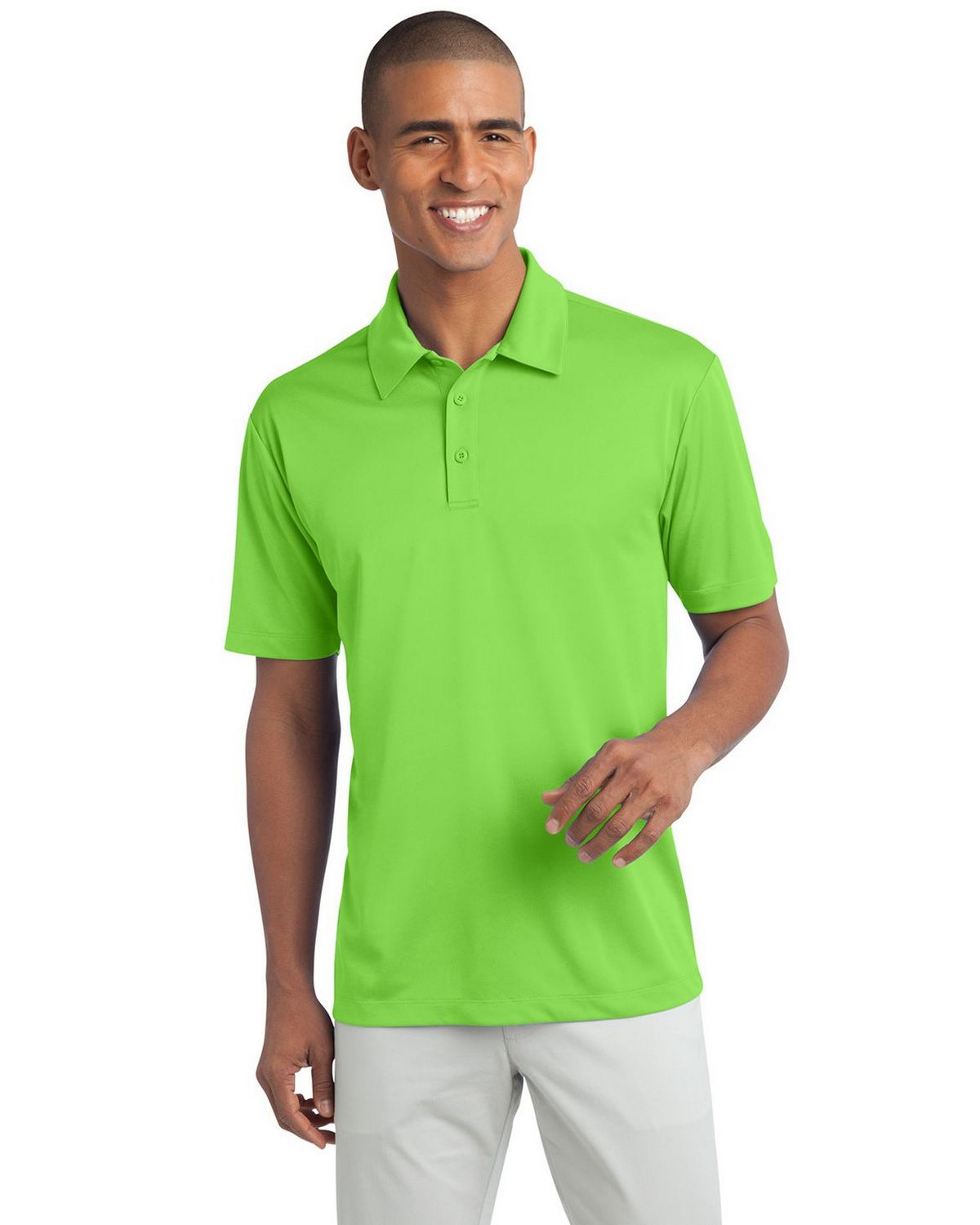 Port Authority K540 Men's Silk Touch Performance Polo - Lime - XS #silk
