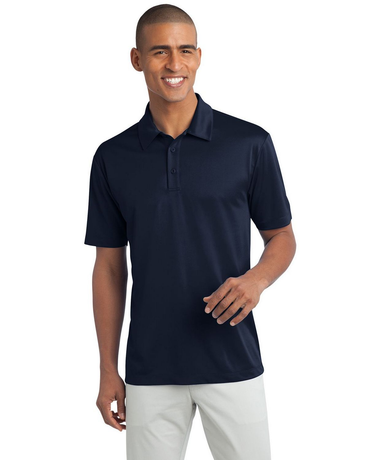 Port Authority K540 Men's Silk Touch Performance Polo - Navy - XS #silk
