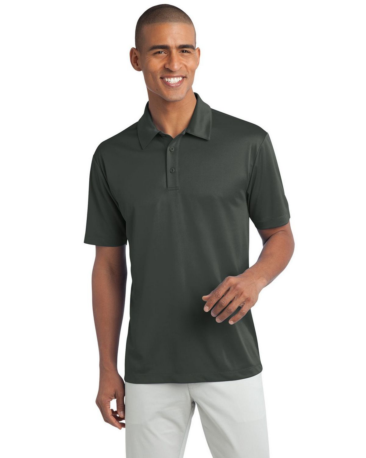 Port Authority K540 Men's Silk Touch Performance Polo - Steel Grey - XS #silk
