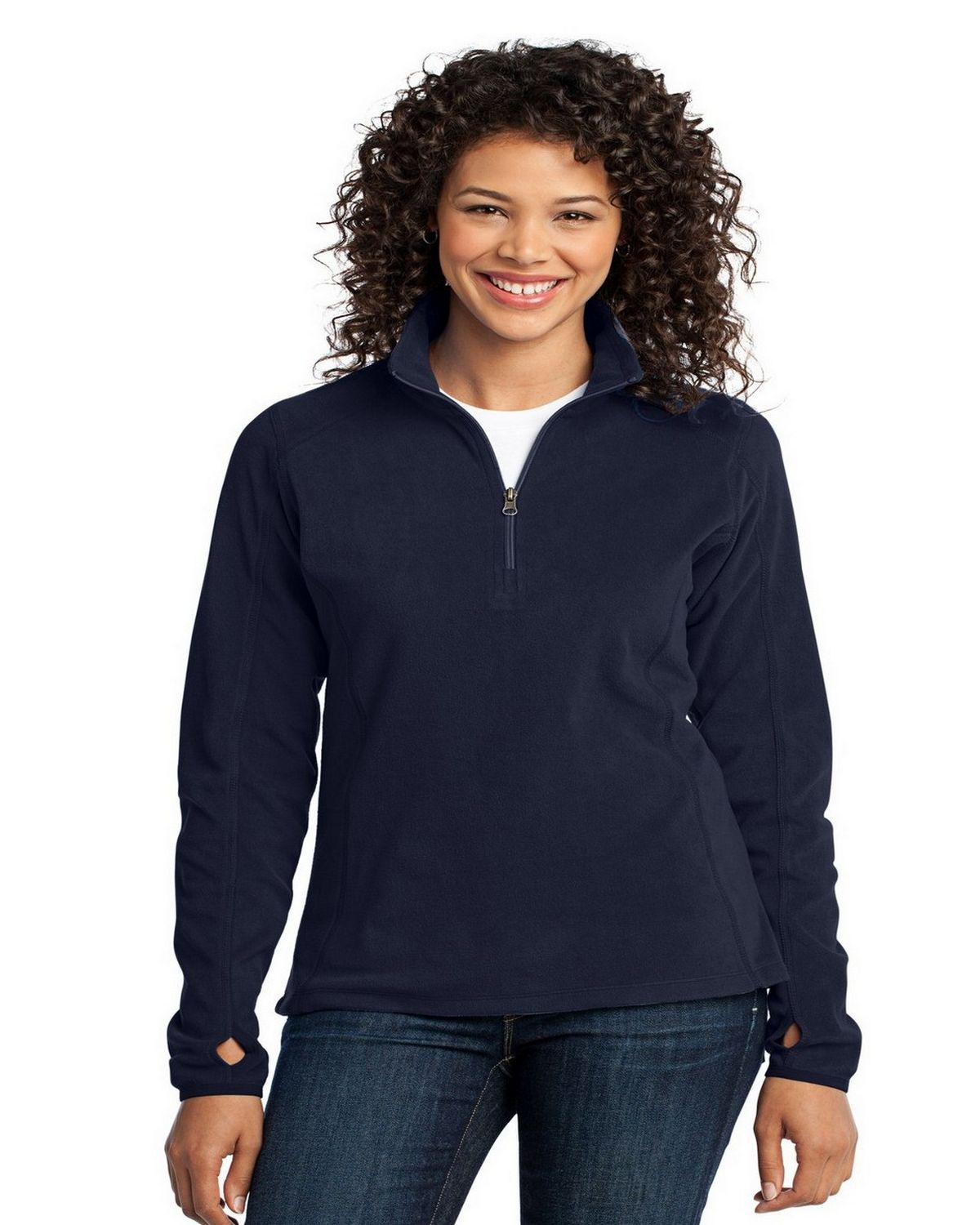 Port Authority L224 Ladies Microfleece Pullover - True Navy - XXL L224