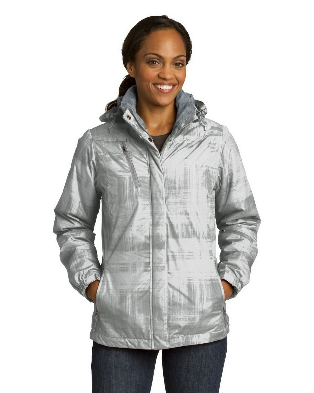 42d93e63e03 Buy Port Authority L320 Ladies Brushstroke Print Insulated Jacket