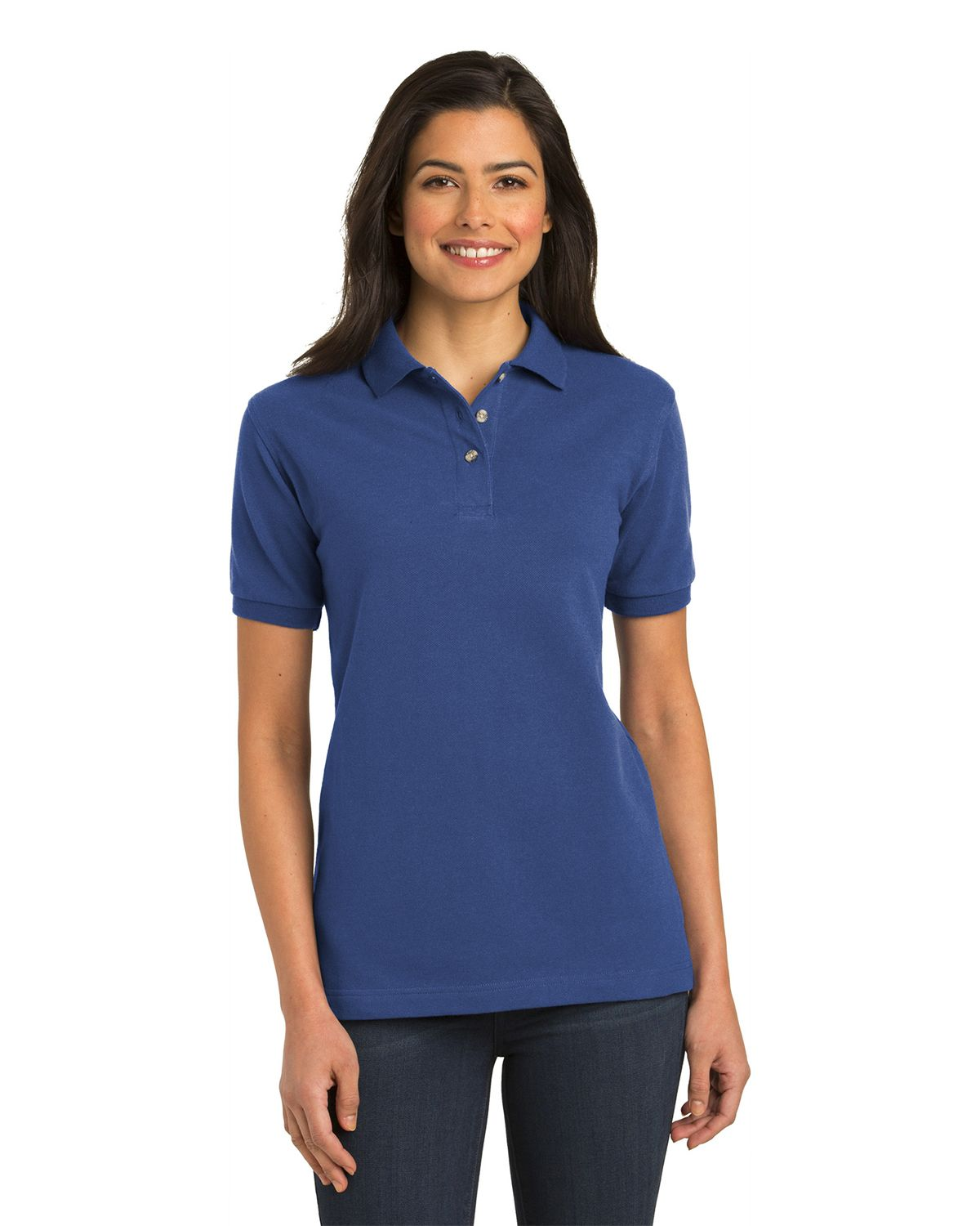 Port Authority L420 Womens Pique Knit Polo - Royal - XS