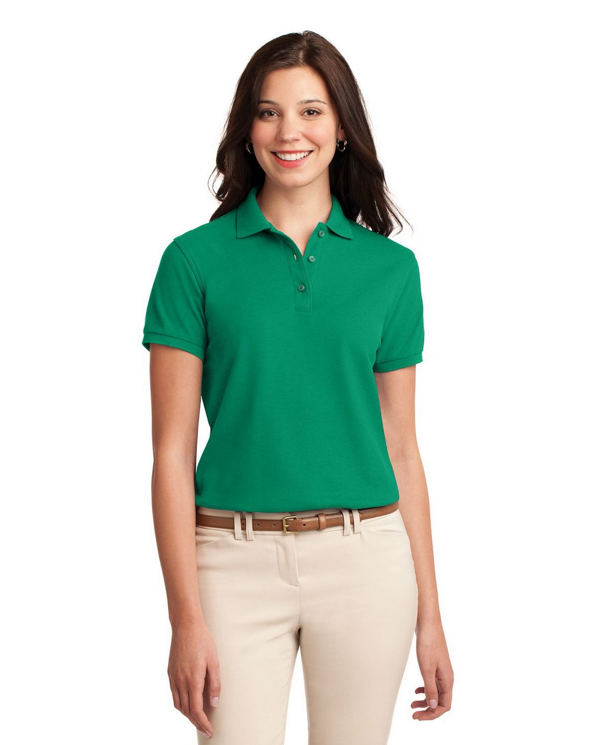 Port Authority L500 Women's Silk Touch Polo - Kelly Green - XS #silk