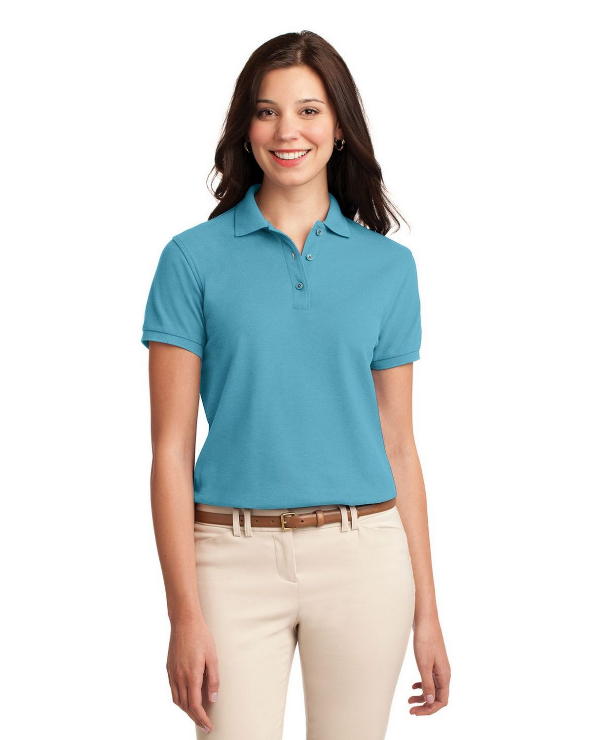 Port Authority L500 Women's Silk Touch Polo - Maui Blue - XS #silk