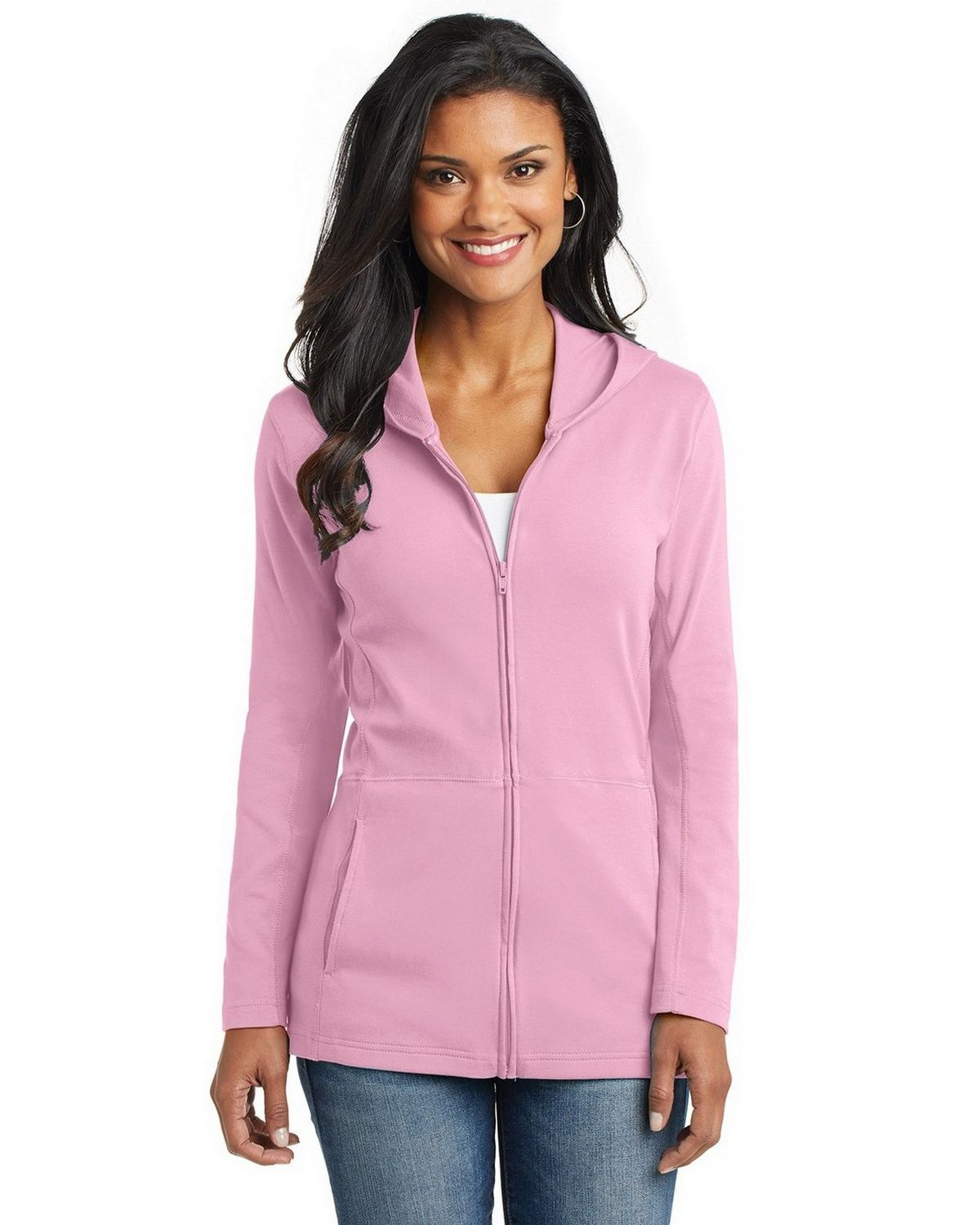 Port Authority L519 Ladies Modern Stretch Cotton Jacket - Petal Pink - L L519