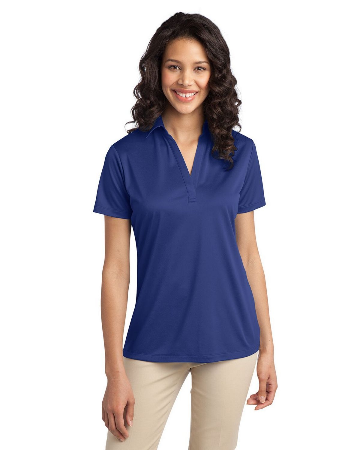 Port Authority L540 Women's Silk Touch Performance Polo - Royal - XS #silk