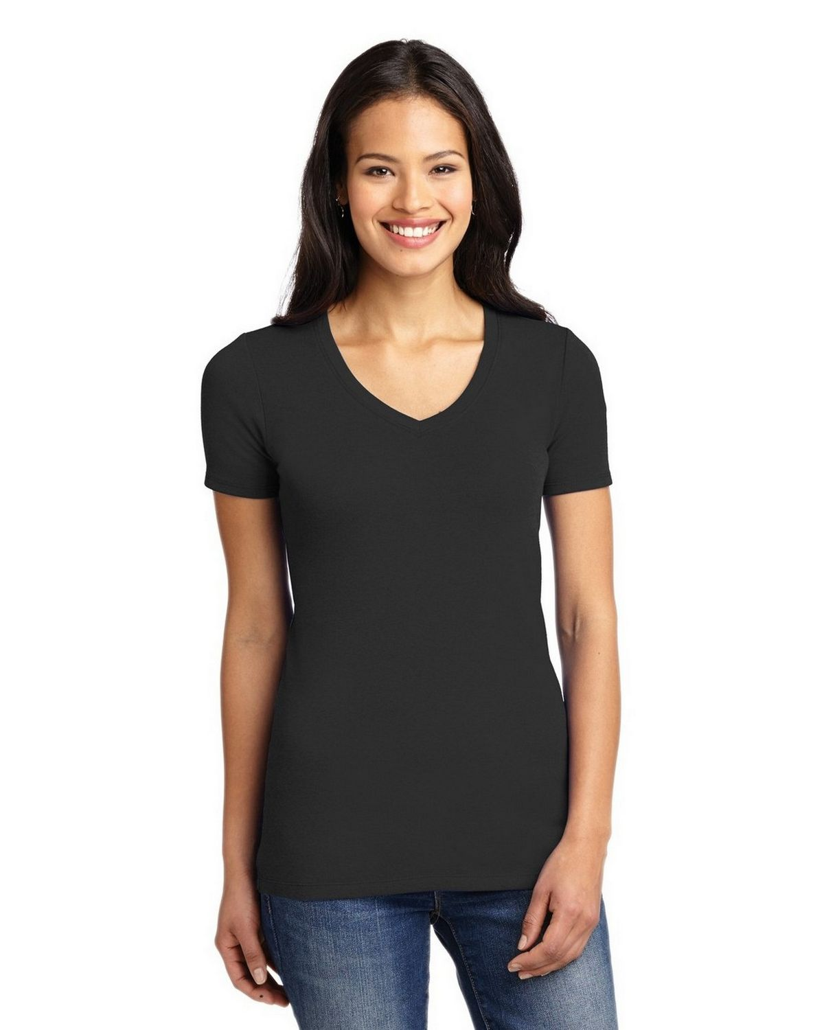 Port Authority LM1005 Ladies Concept Stretch V-Neck Tee - True Royal - XL LM1005