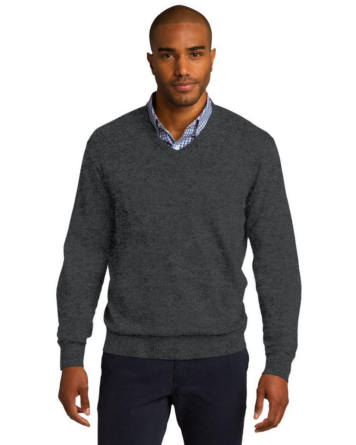 Port Authority SW285 Sweater - Charcoal Heather - XL SW285