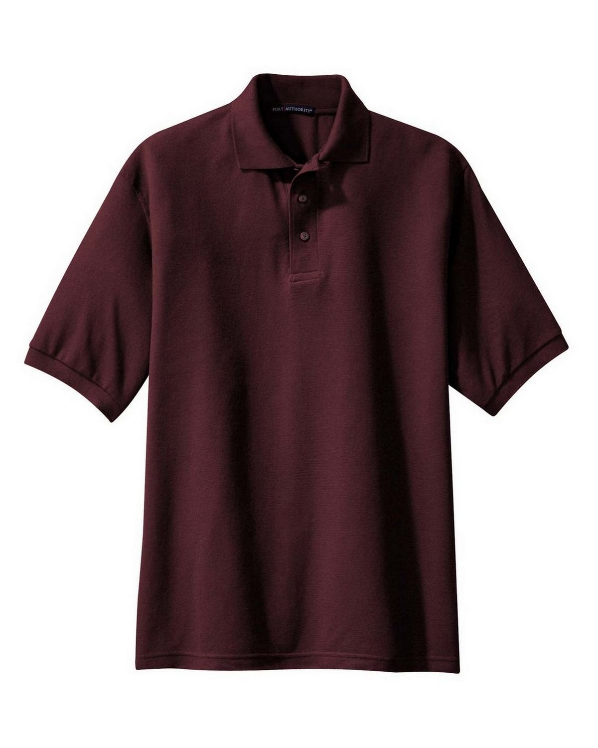 Port Authority TLK500 Men's Tall Silk Touch Polo - Burgundy - LT #silk