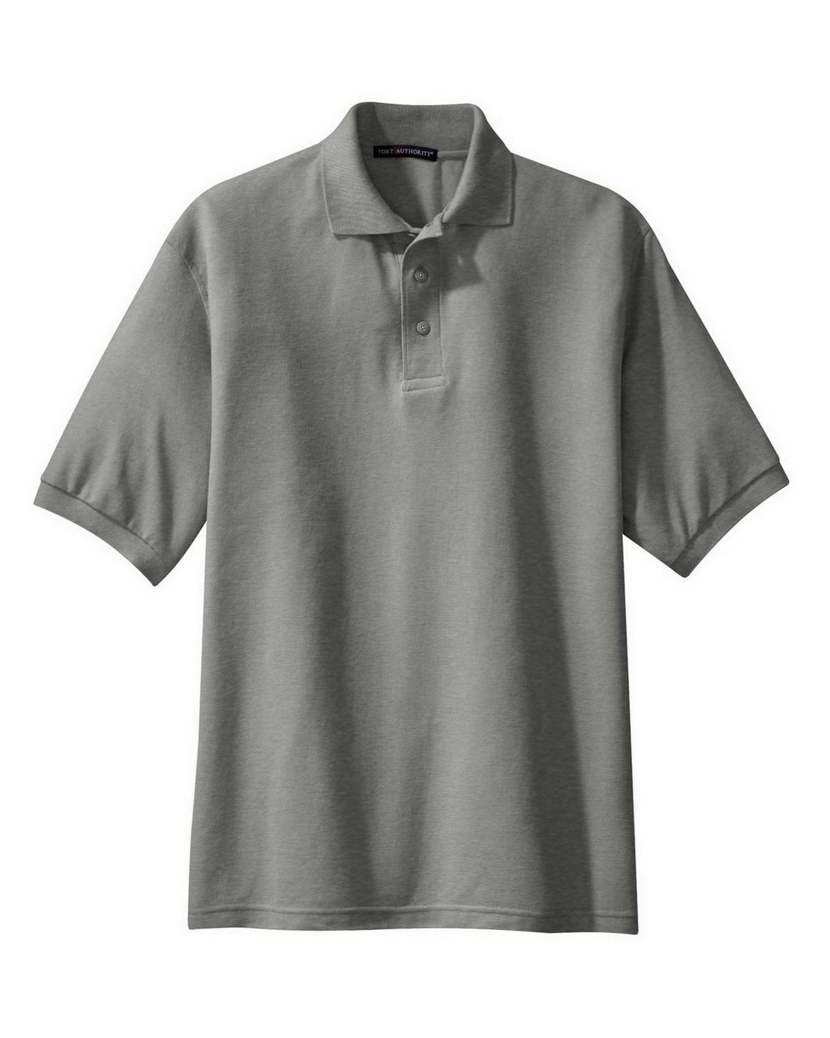 Port Authority TLK500 Men's Tall Silk Touch Polo - Cool Grey - LT #silk