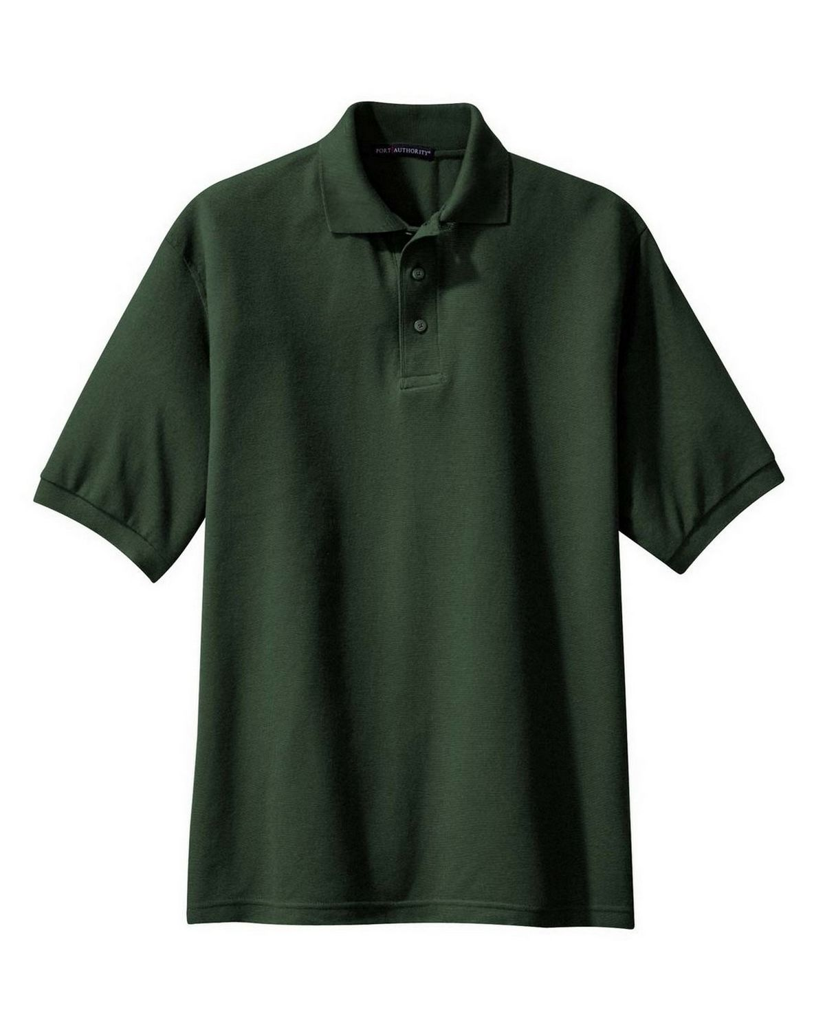 Port Authority TLK500 Men's Tall Silk Touch Polo - Dark Green - LT #silk