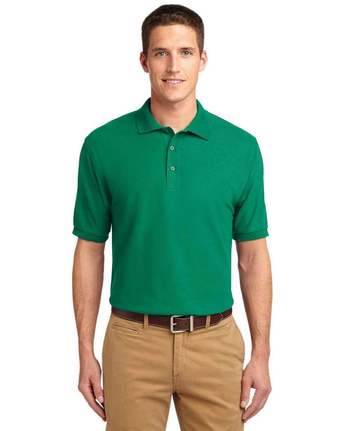 Port Authority TLK500 Men's Tall Silk Touch Polo - Kelly Green - LT #silk