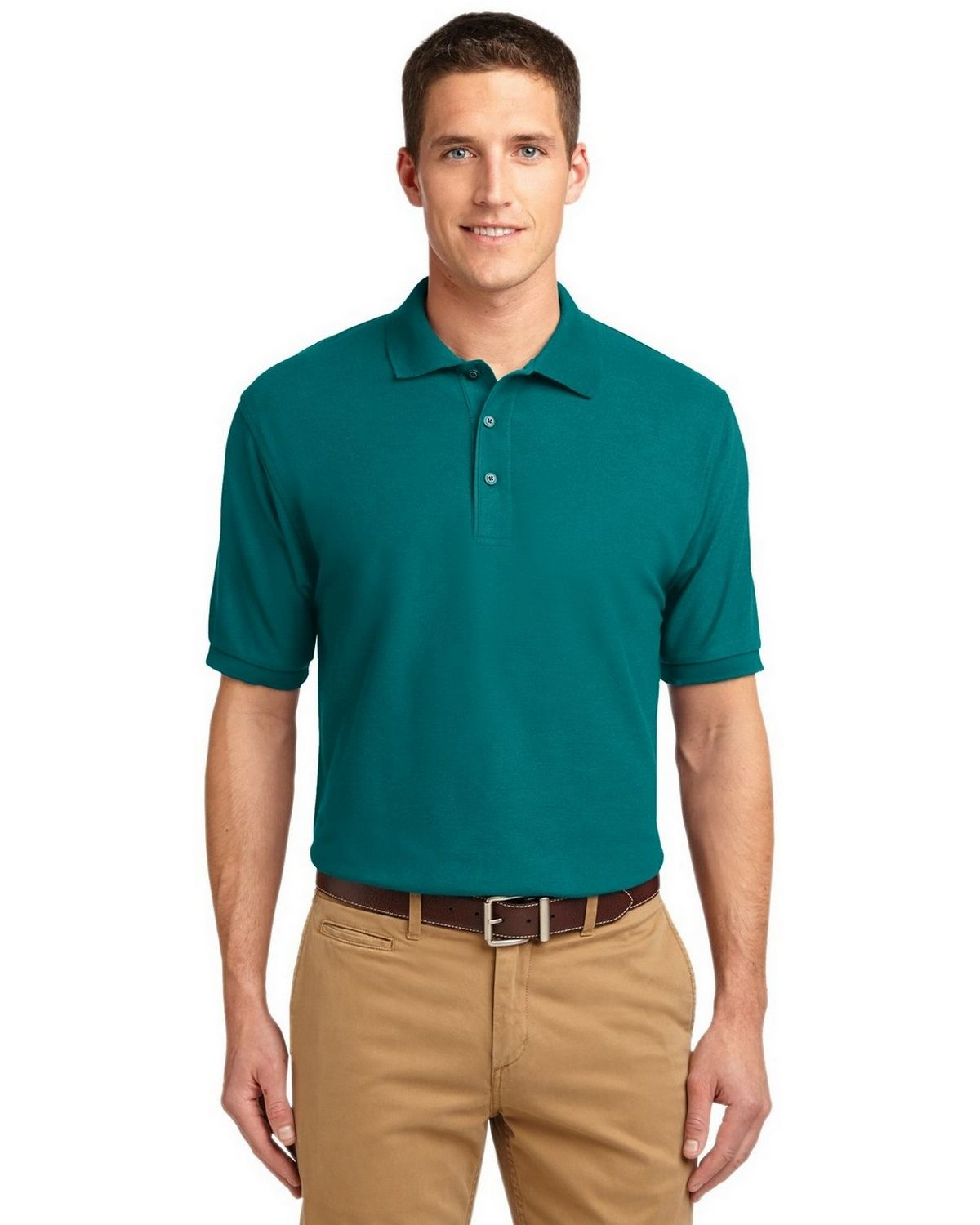 Port Authority TLK500 Men's Tall Silk Touch Polo - Teal Green - LT #silk