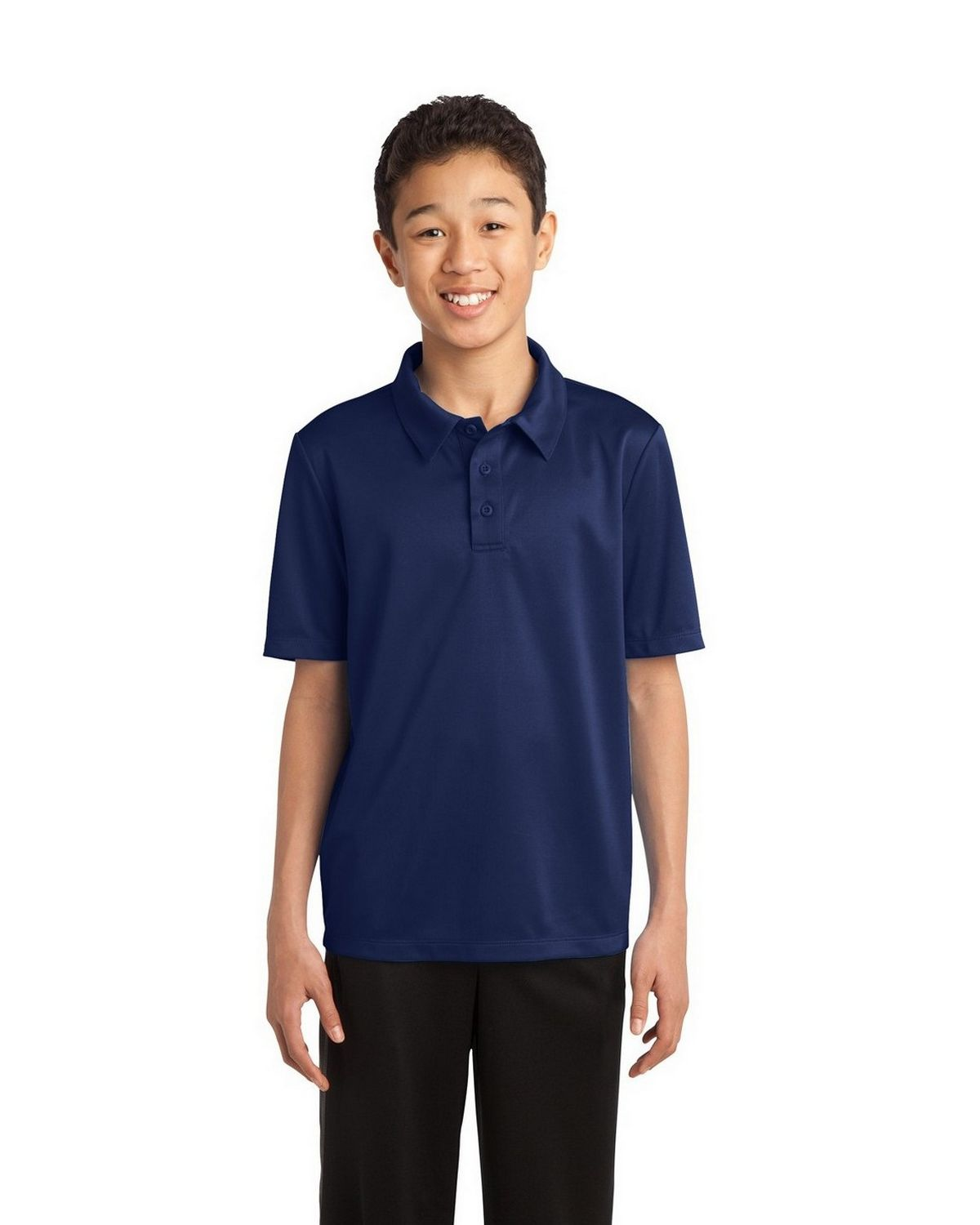 Port Authority Y540 Youth Silk Touch Performance Polo - Navy - XS #silk