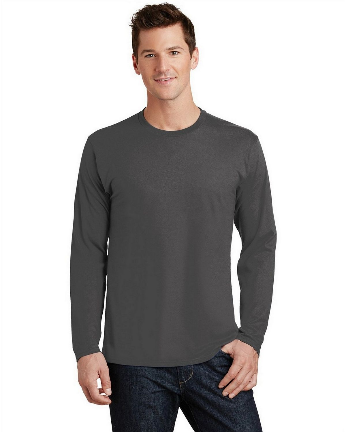 Port & Company PC450LS Long Sleeve Tee - Charcoal - S PC450LS