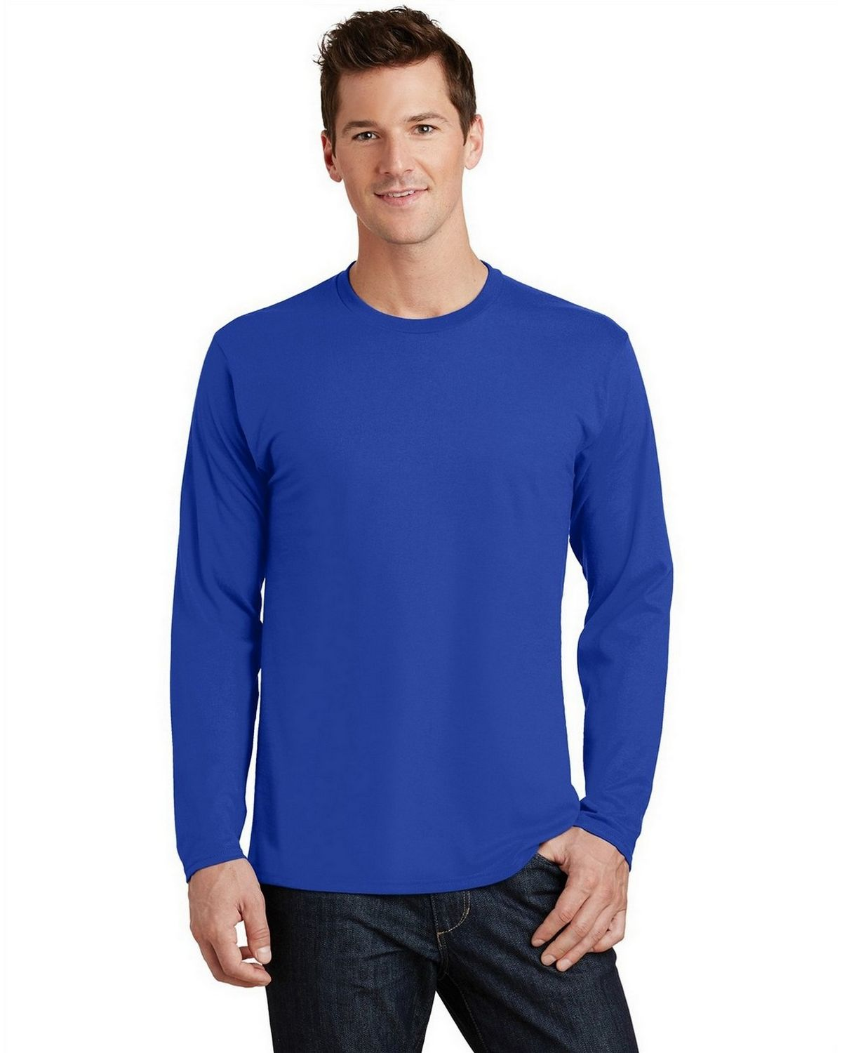 Port & Company PC450LS Long Sleeve Tee - True Royal - L PC450LS