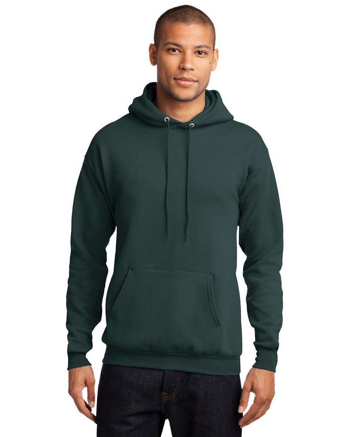 Port & Company PC78H Pullover Hooded Sweatshirt - Dark Green - XL PC78H