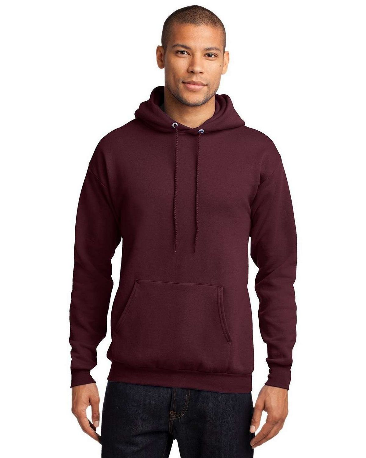 Port & Company PC78H Pullover Hooded Sweatshirt - Heather Athletic Maroon - XL PC78H