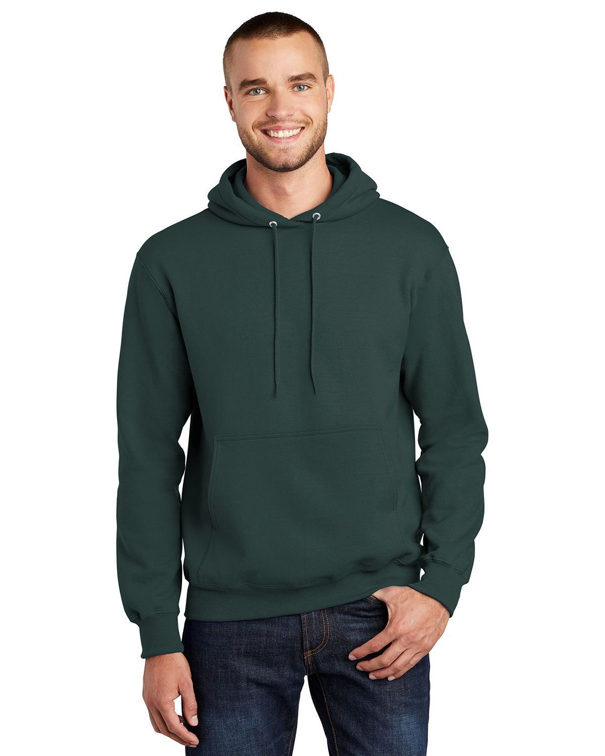 Port & Company® -  Essential Fleece Pullover Hooded Sweatshirt.  PC90H Dark Green L PC90H