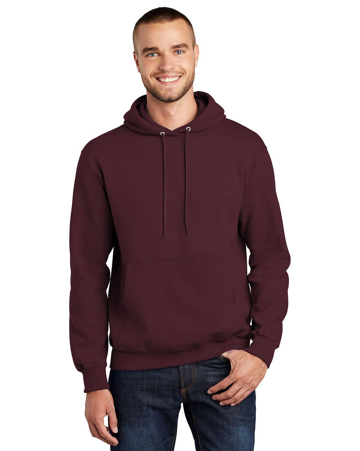 Port & Company PC90H Pullover Hooded Sweatshirt - Maroon - S PC90H