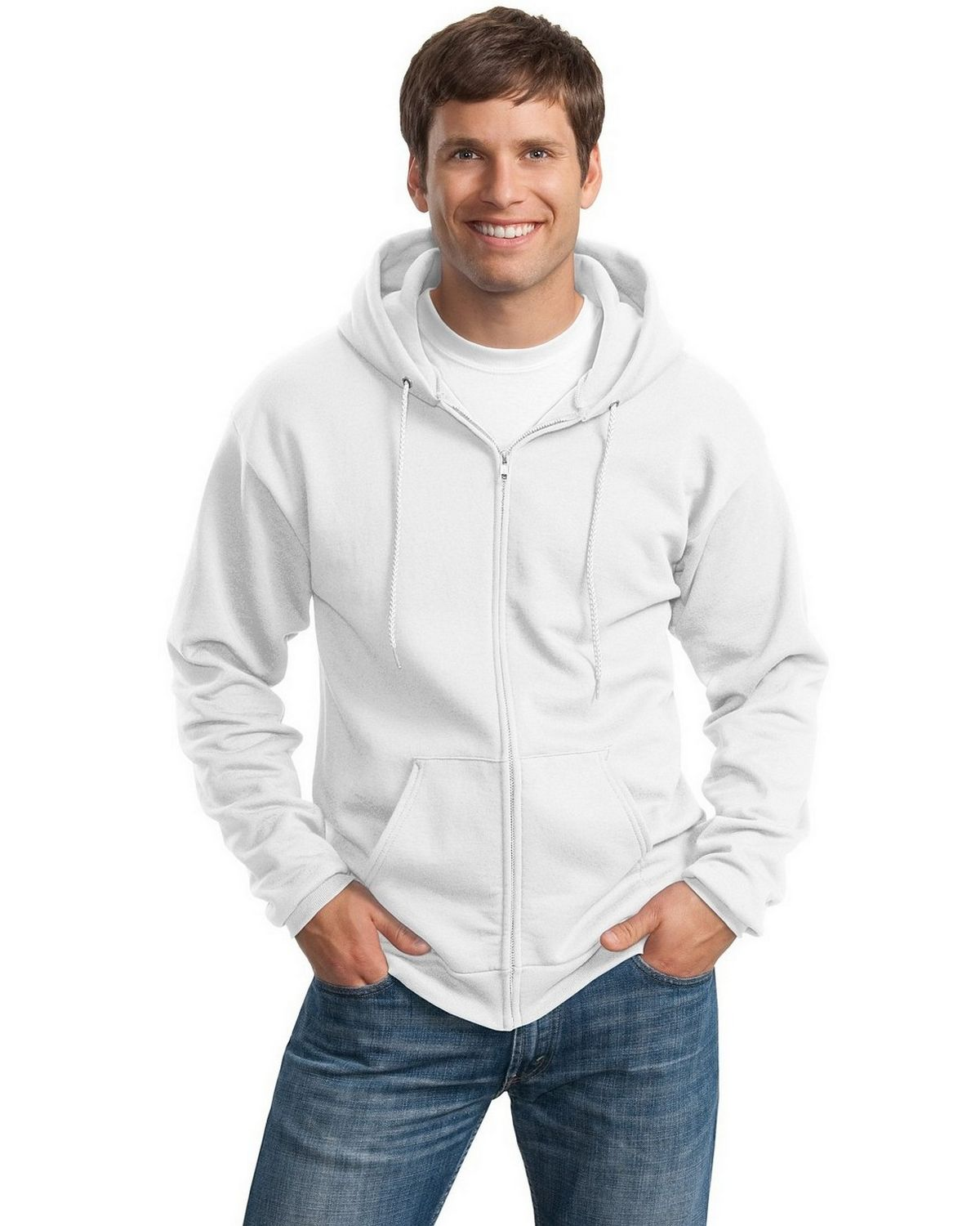 Port & Company PC90ZHT Tall Ultimate Hooded Sweatshirt - White - XLT PC90ZHT