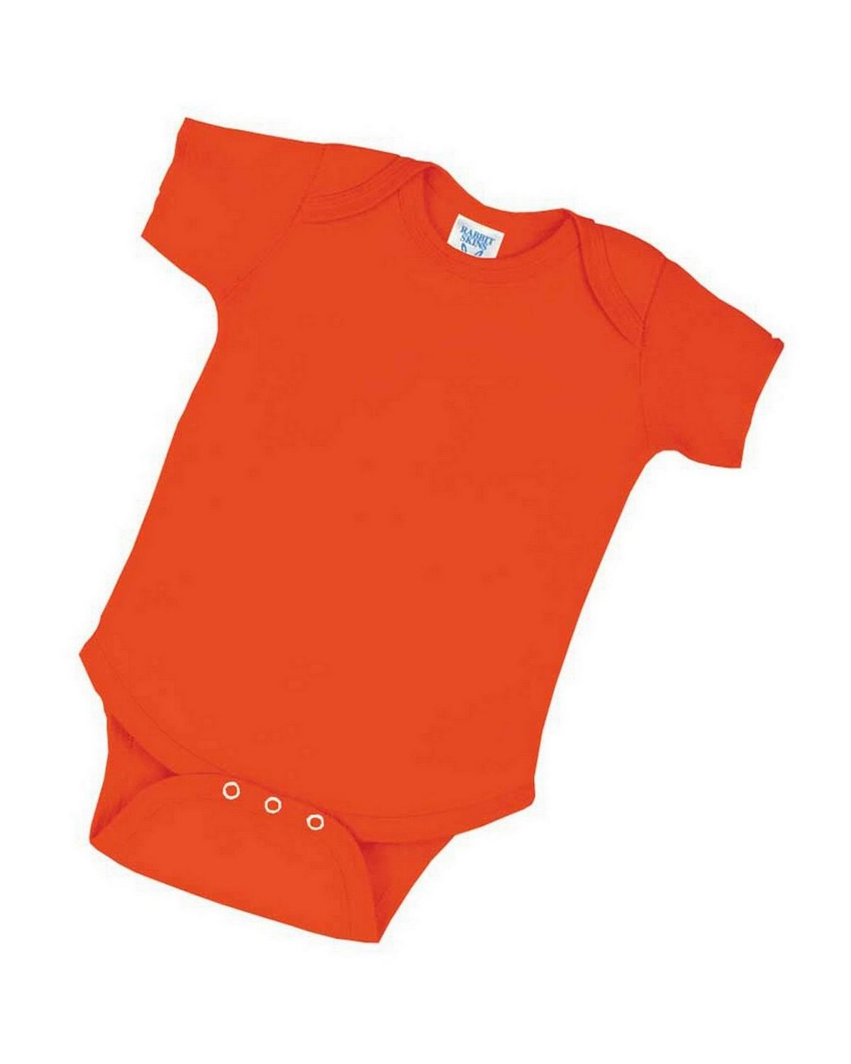 Rabbit Skins 4400 Infant Lap Shoulder Creeper - Orange - 6M 4400