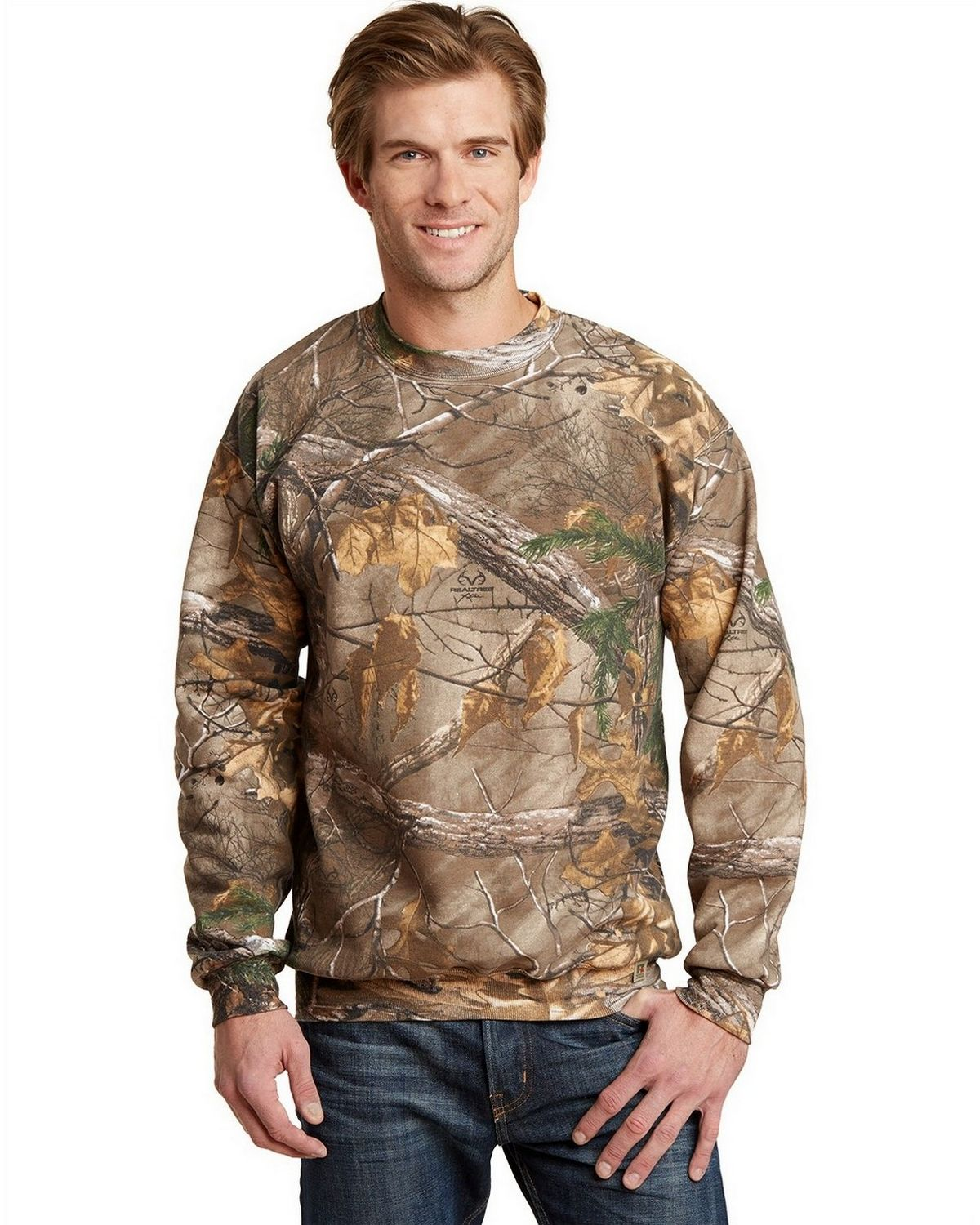 Russell Outdoors S188R Realtree Crewneck Sweatshirt - Realtree AP - XL S188R