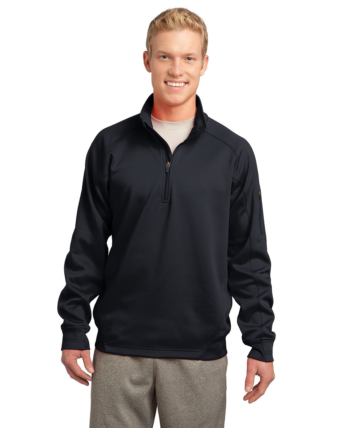 Sport-Tek F247 Tech Fleece Pullover - Black - M F247