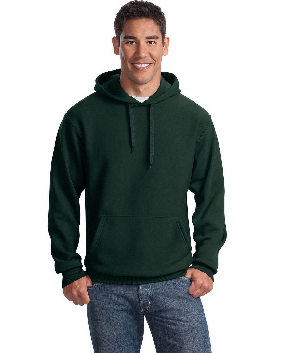 Sport-Tek F281 Super Heavyweight Pullover Hooded Sweatshirt - Dark Green - M F281