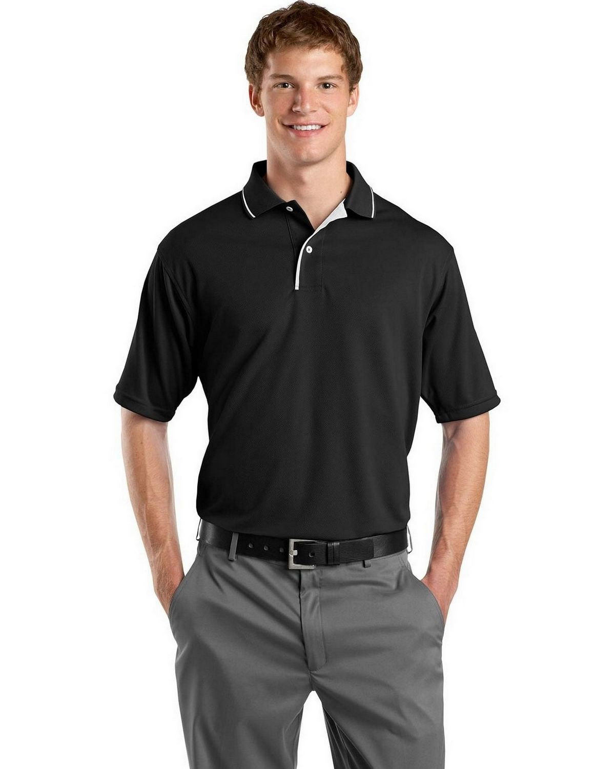 Buy Sport Tek K467 Dri Mesh Polo With Tipped Collar And Piping By