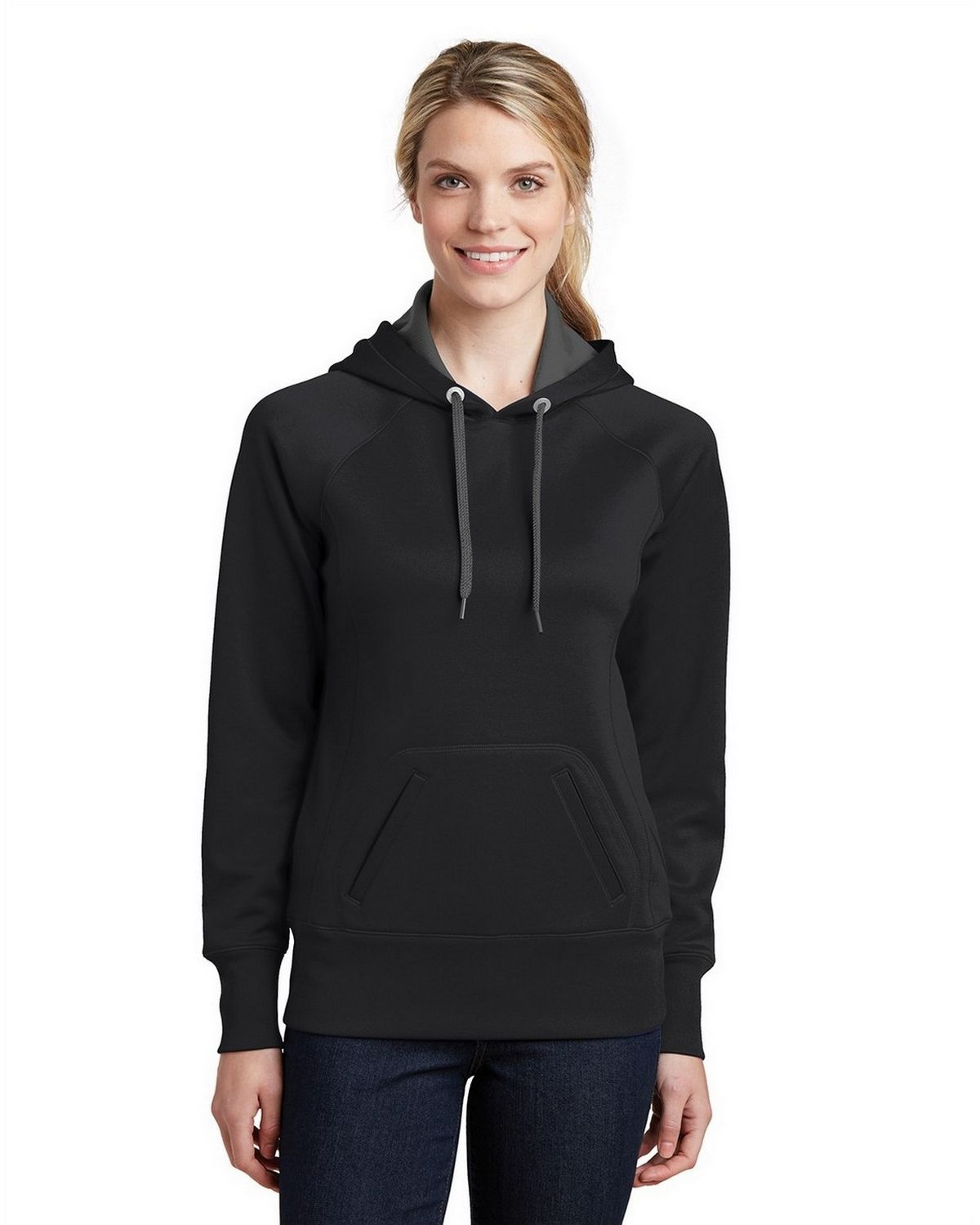 Sport-Tek LST250 Ladies Sweatshirt - Black - XXL LST250