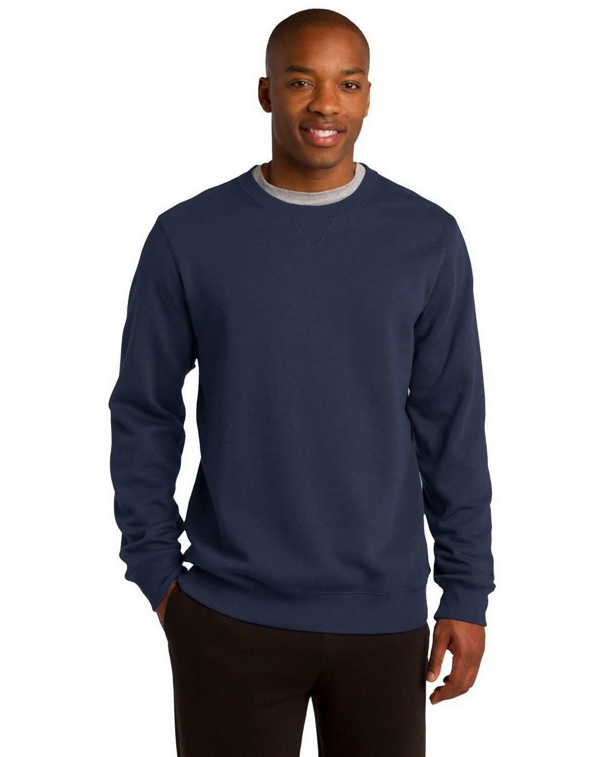 Sport-Tek ST266 Crewneck Sweatshirt - Graphite Heather - XS ST266