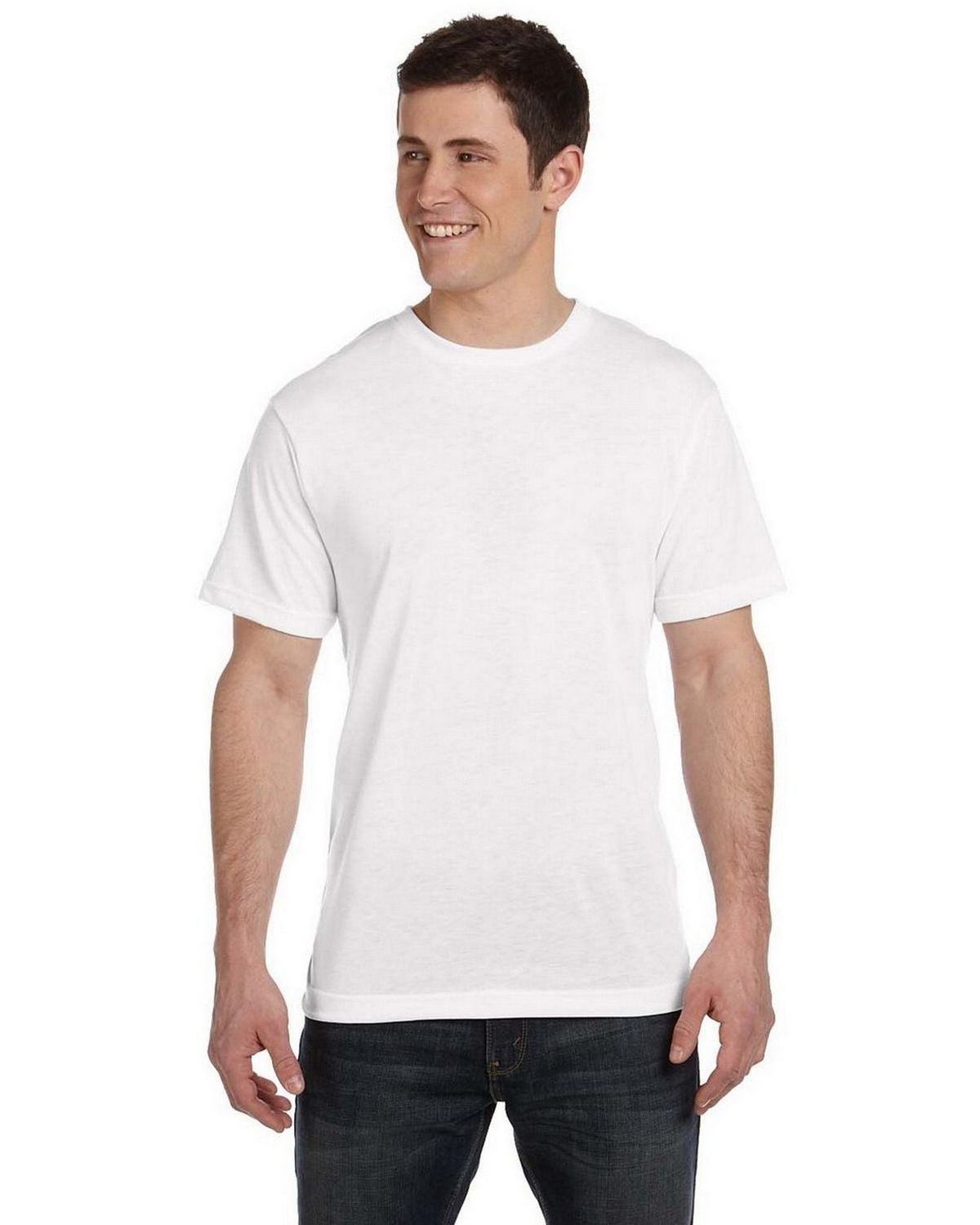 Sublivie S1910 Polyester T-Shirt - White - XL S1910