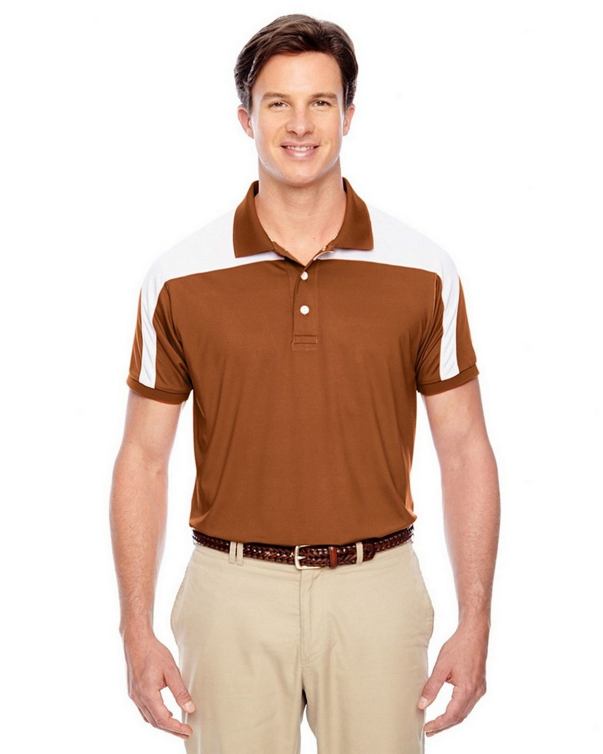 Team 365 TT22 Mens Victor Performance Polo - Sp Burnt Orange - XS TT22